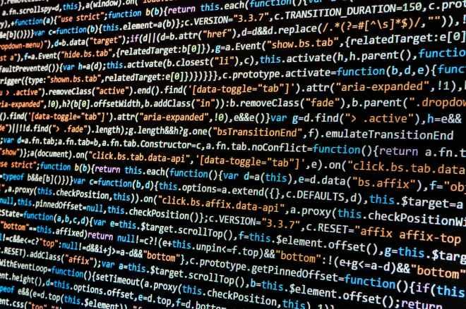 close up code coding computer