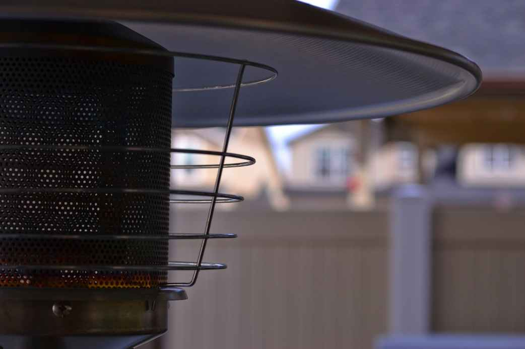 close up photography of patio heater