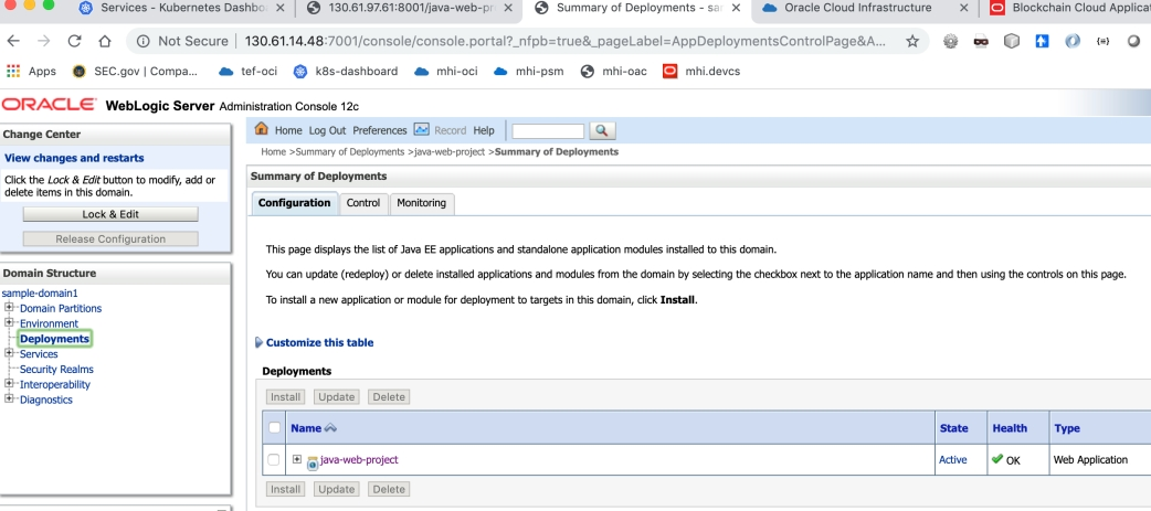 WebLogic Kubernetes Operator: Deploying a Java App in a WebLogic